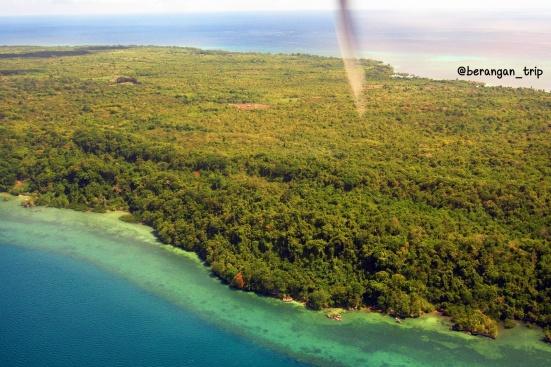 Aerial view Pulau Pasi Gusung Selayar