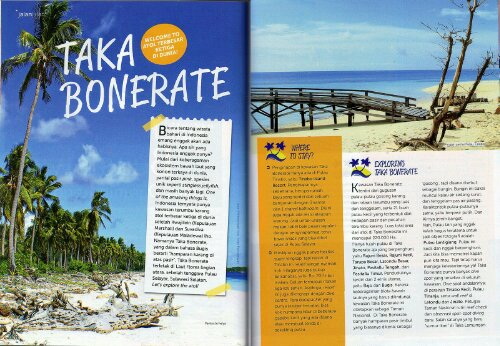 My article about Taka Bonerate is featured in Go!Girl Magz :)