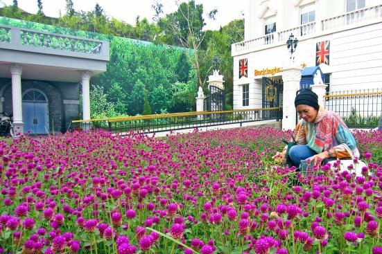 """Taman bunga di depan """"Istana Buckingham"""""""