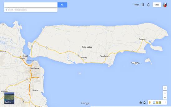Peta Pulau Madura